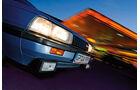 Front mit Scheinwerfer, Blinker und Nebelscheinwerfer am Mazda 626 Coupé 2.0 GLX, Baujahr 1983