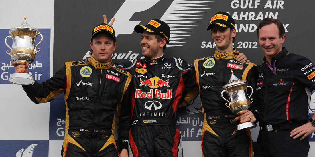 GP Bahrain Podium 2012