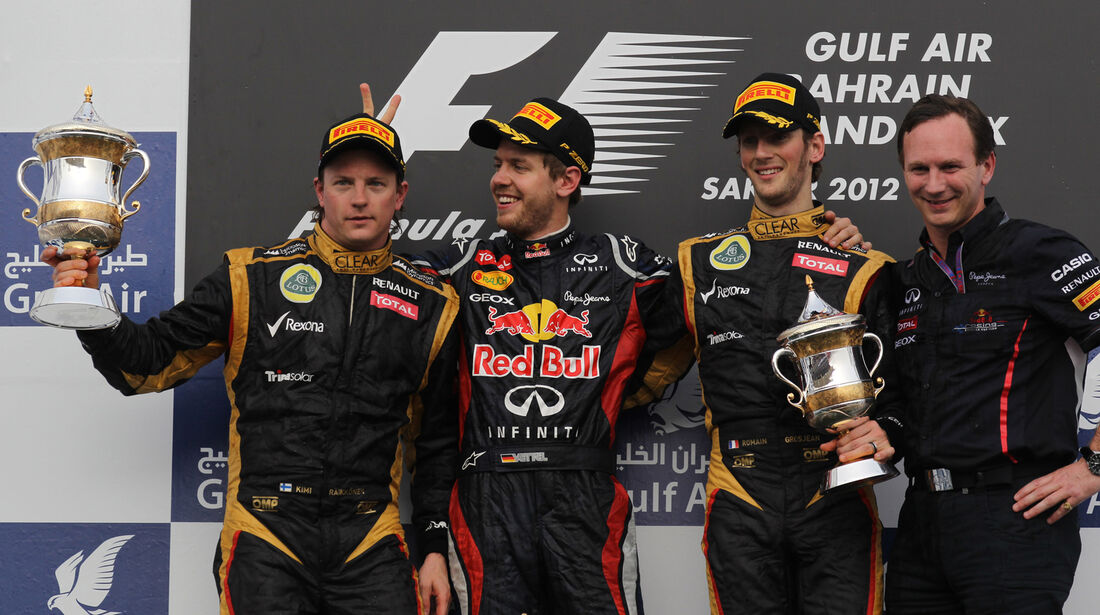 GP Bahrain Podium 2012