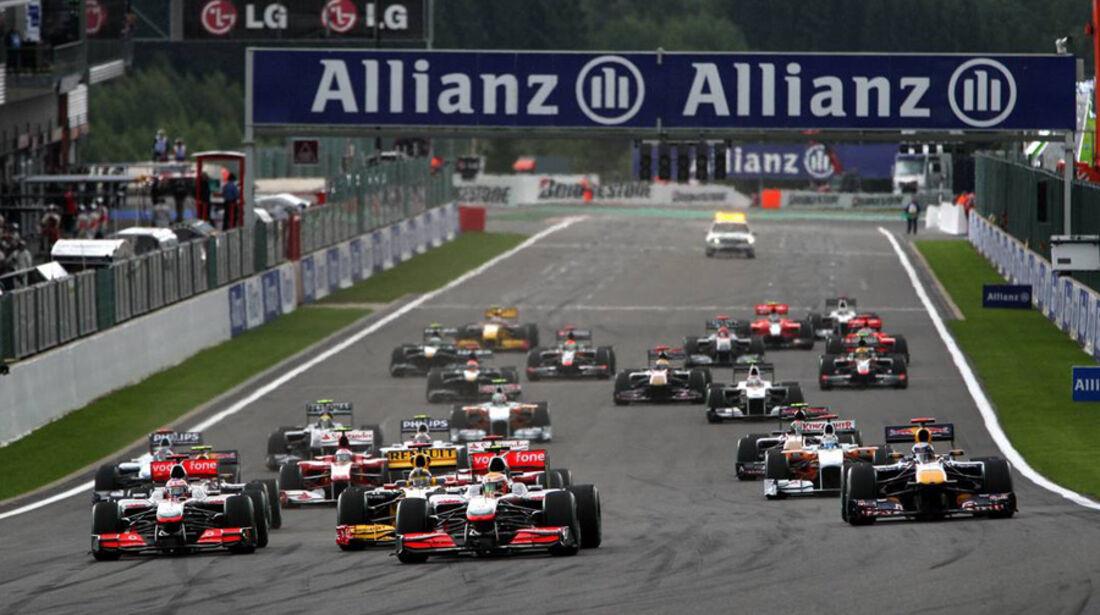 GP Belgien - Start