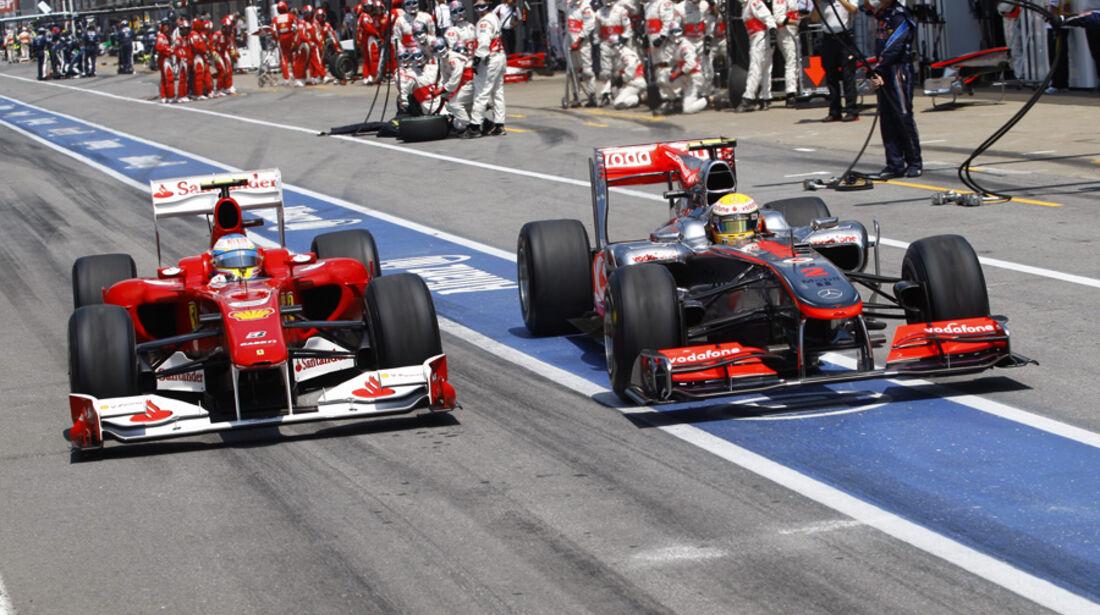 GP Kanada 2010 Hamilton Alonso
