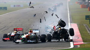 GP3 - Ungarn - Crash - 2013
