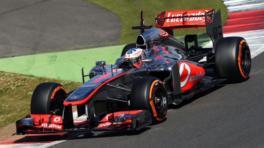 Gary Paffett - McLaren - Young Drivers Test - Silverstone - 19. Juli 2013