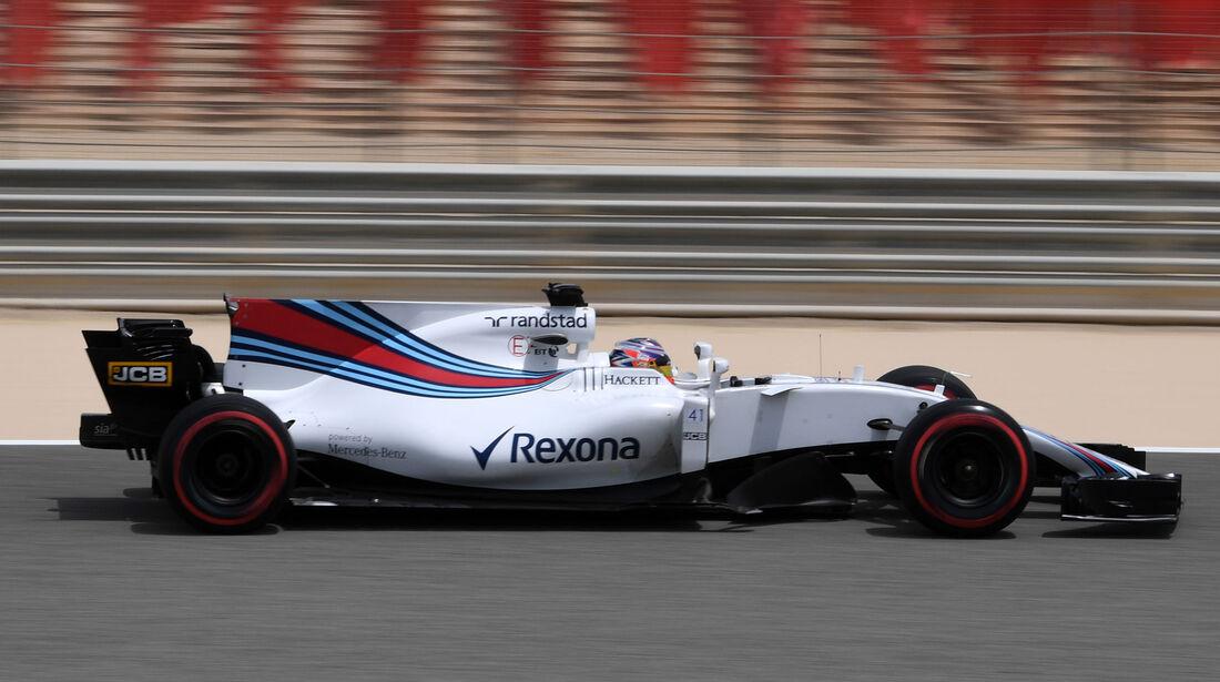 Gary Paffett - Williams - Formel 1 - Testfahrten - Bahrain - Mittwoch - 19.4.2017