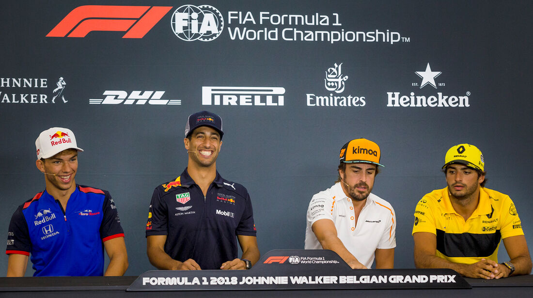 Gasly, Ricciardo, Alonso & Sainz - Formel 1 - GP Belgien - Spa-Francorchamps - 23. August 2018