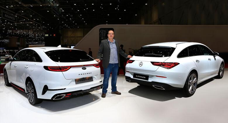 Genf Autosalon 2019 Kaltvergleich Proceed Kia Mercedes CLA Shooting Brake