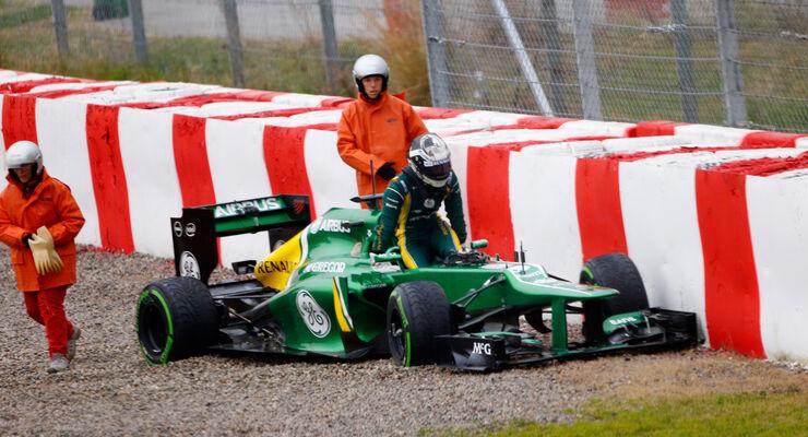 Giedo van der Garde - Caterham - Formel 1 - Test - Barcelona - 22.Februar 2013