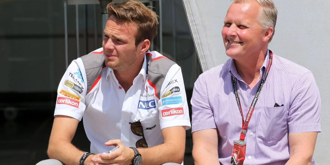 Giedo van der Garde & Johnny Herbert - Formel 1 - GP Ungarn - Budapest - 24. Juli 2014
