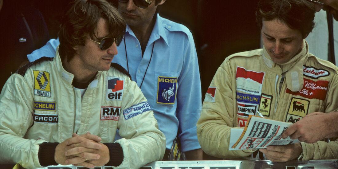 Gilles Villeneuve & Rene Arnoux GP Deutschland 1980 Ferrari