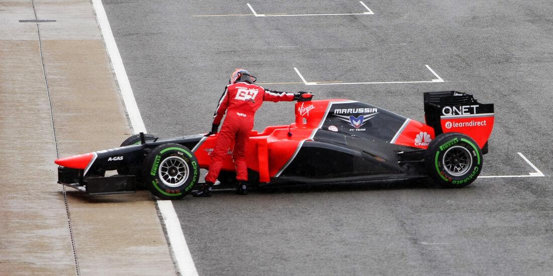 Glock GP England F1 Crashs 2012