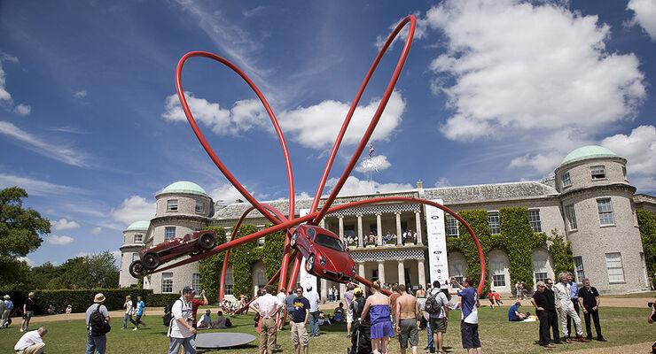 Goodwood Festival of Speed 2010: Alfa Romeo-Skulptur
