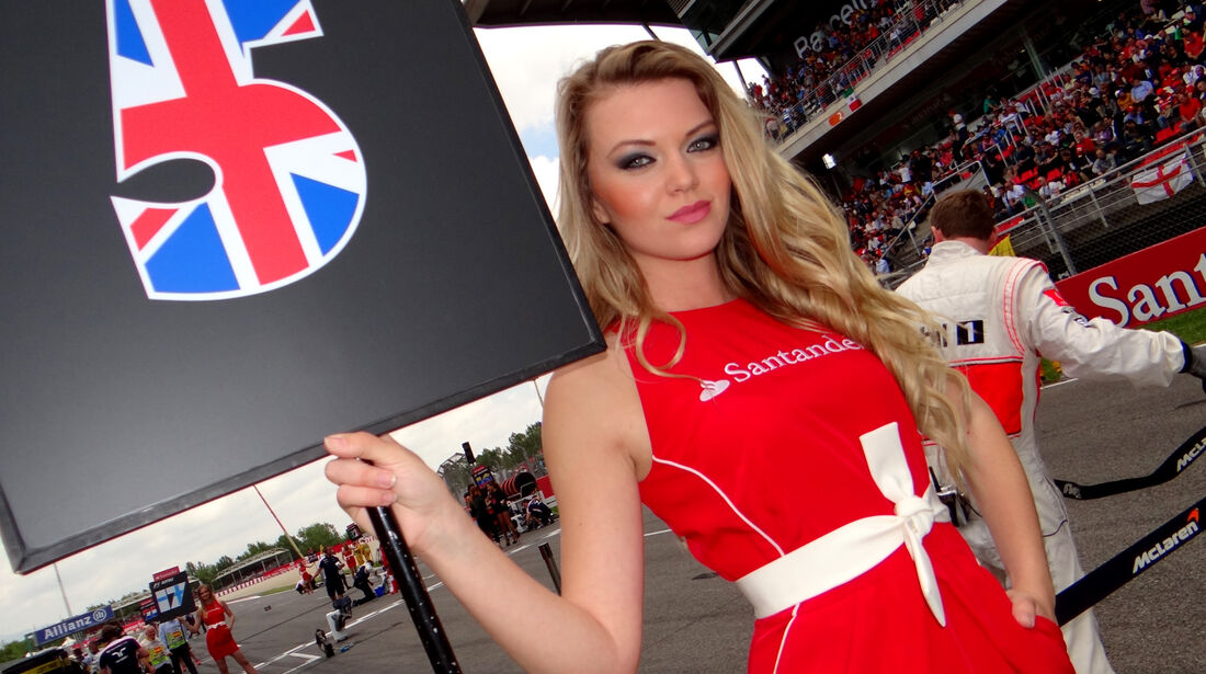 Grid Girl - Formel 1 - GP Spanien 2013