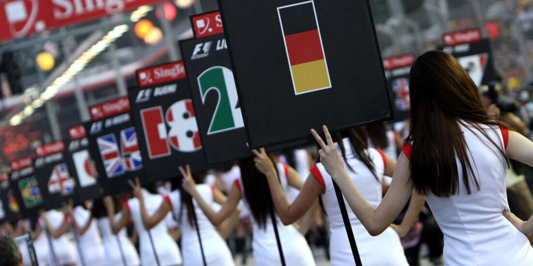 Grid Girls GP Singapur 2011