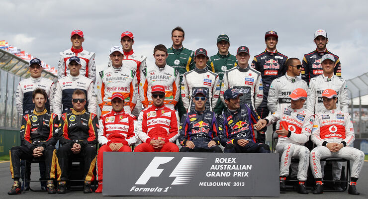 Gruppenfoto - Formel 1 - GP Australien 2013