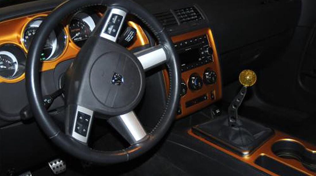 HPP Plymouth Superbird, Dodge Challenger, Innenraum, Lenkrad