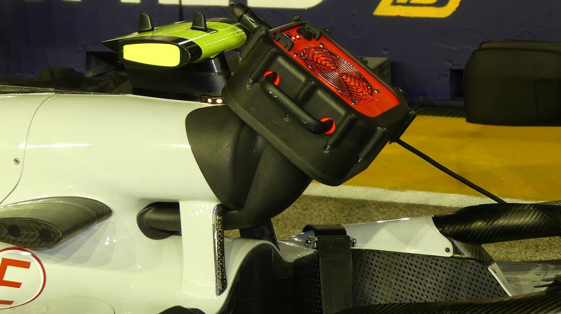 HaasF1 - F1-Technik - Lüfter - GP Singapur 2018