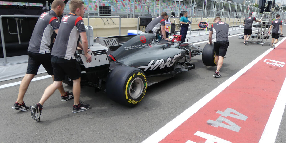 HaasF1 - Formel 1 - GP Aserbaidschan 2017 - Baku - Donnerstag - 22.6.2017