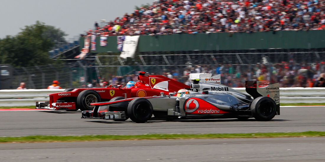 Hamilton Alonso McLaren GP England 2012