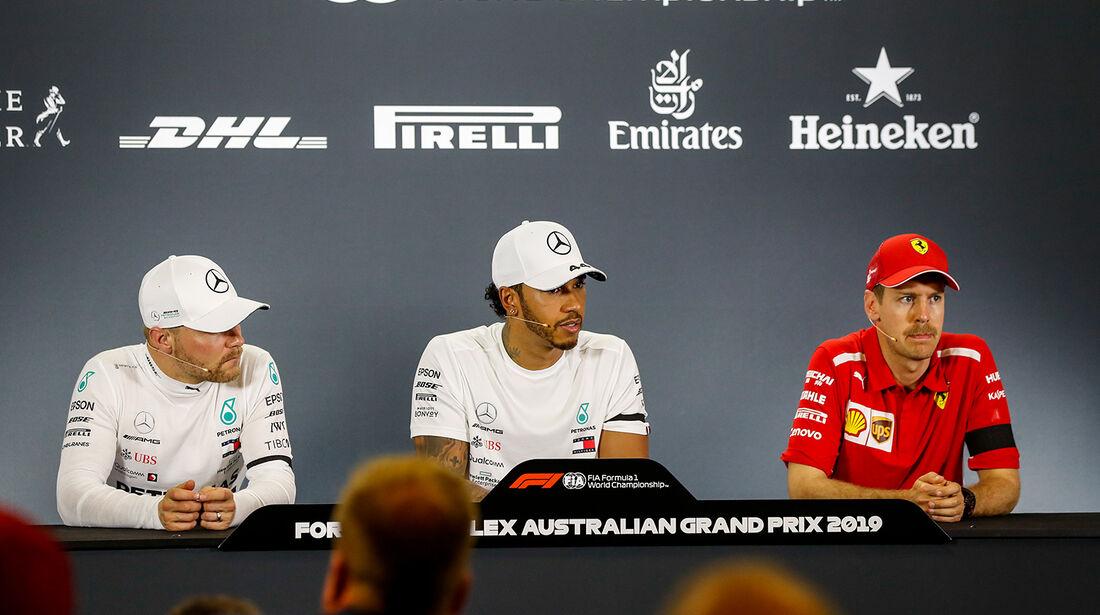 Hamilton, Bottas & Vettel - Formel 1 - GP Australien 2019