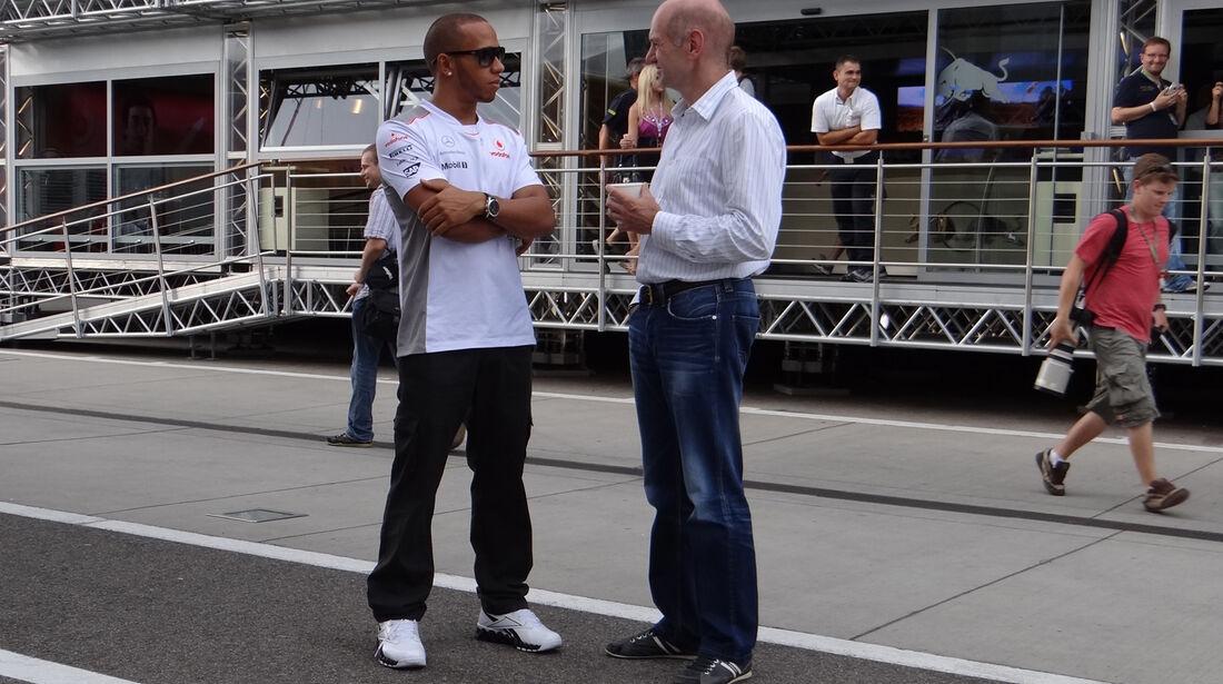 Hamilton & Newey - Formel 1 - Budapest - GP Ungarn - 26. Juli 2012