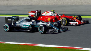 Hamilton & Räikkönen - Mercedes vs Ferrari - GP Spanien 2016 - Barcelona - F1 - Freitag - 13.5.2016