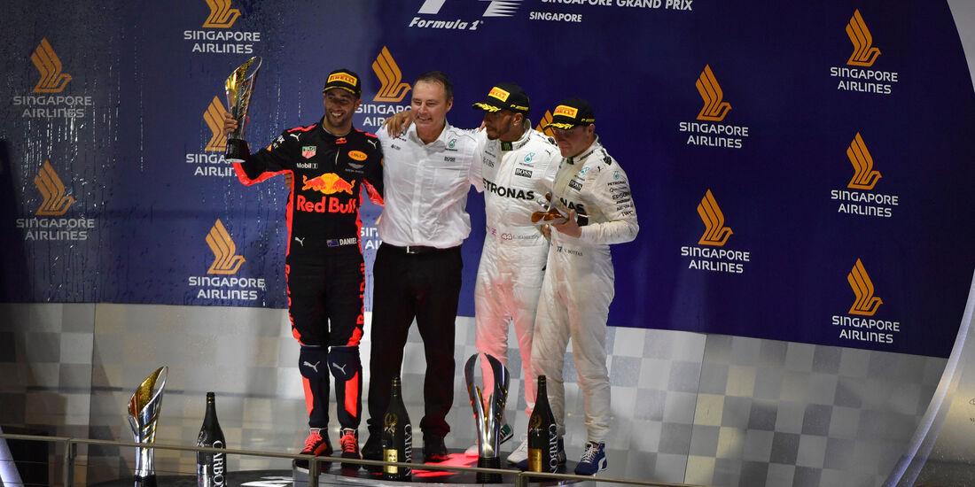 Hamilton - Ricciardo - Bottas - GP Singapur 2017 - Rennen