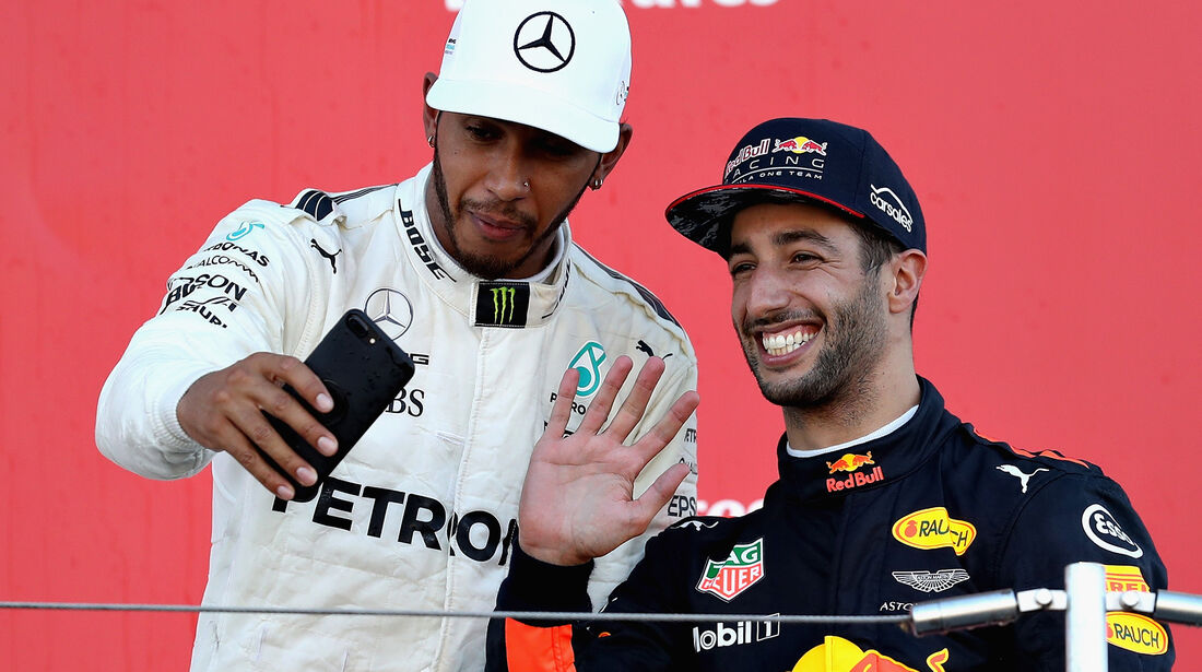 Hamilton & Ricciardo - GP Italien 2017