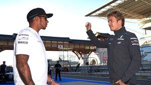 Hamilton & Rosberg - GP Korea 2013