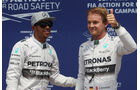 Hamilton & Rosberg - Mercedes - Formel 1 - GP Kanada - Montreal - 7. Juni 2014