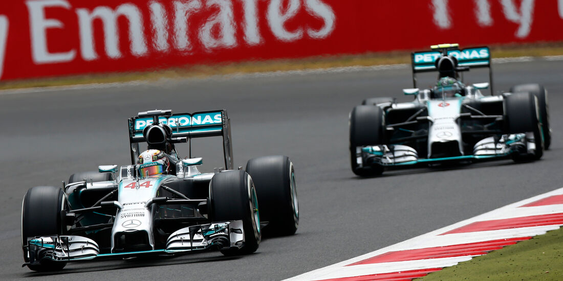 Hamilton & Rosberg - Mercedes - GP England 2014