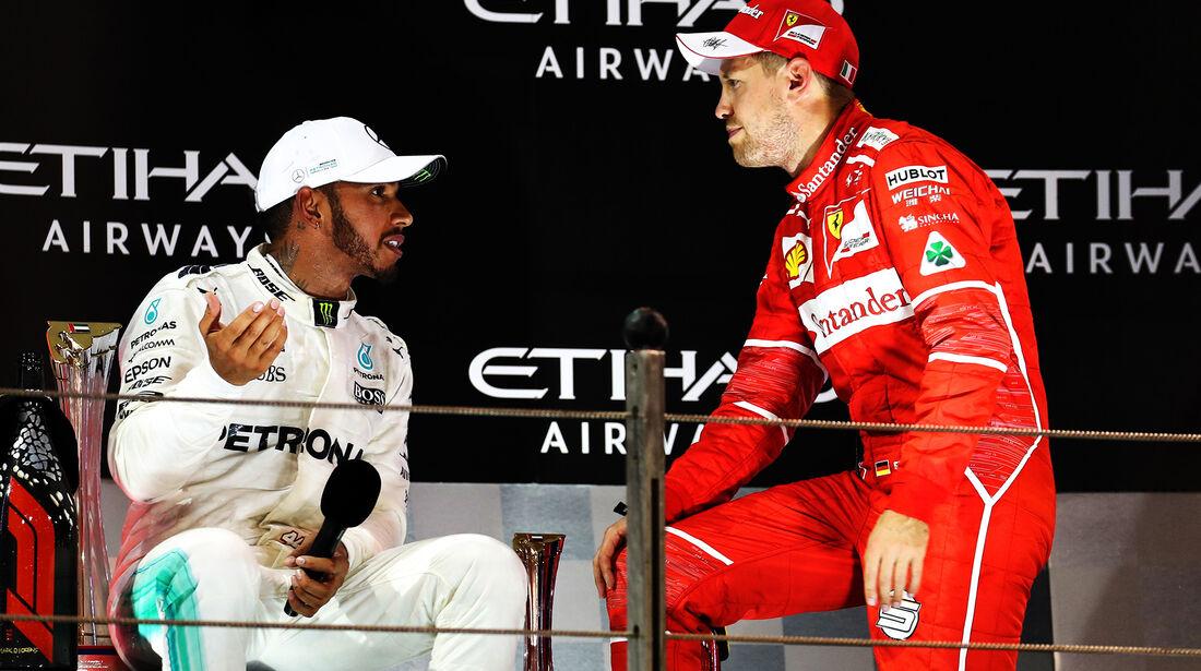 Hamilton & Vettel - GP Abu Dhabi 2017