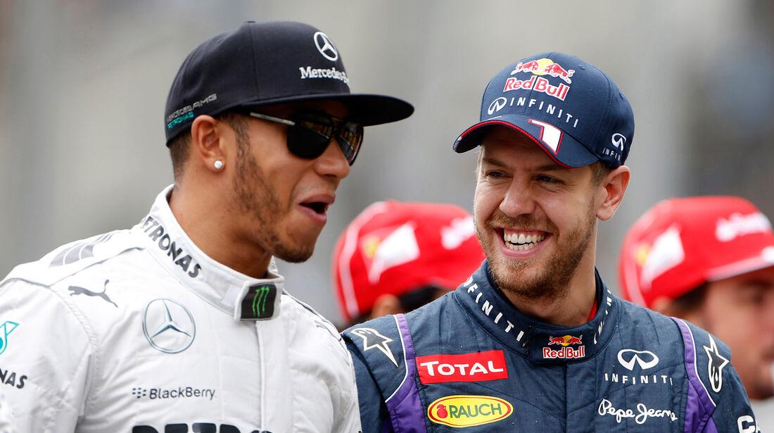 Hamilton & Vettel - GP Brasilien 2013