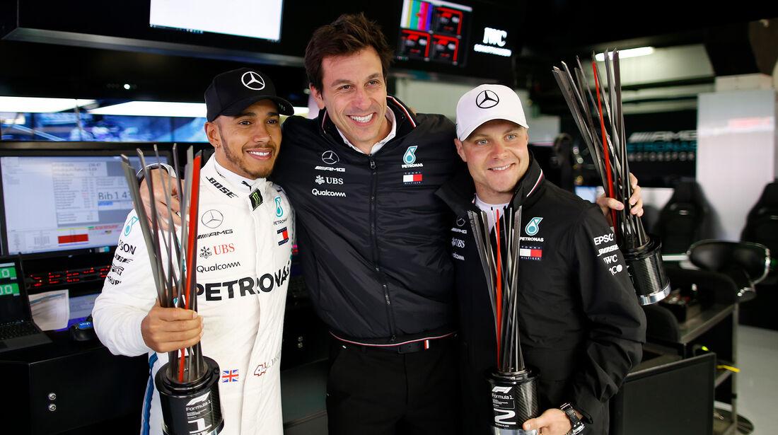 Hamilton, Wolff & Bottas - Formel 1 - GP Spanien 2018