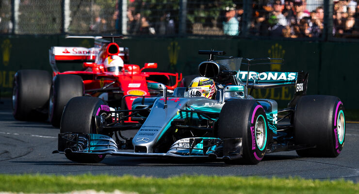 Hamilton vs. Vettel - GP Australien 2017