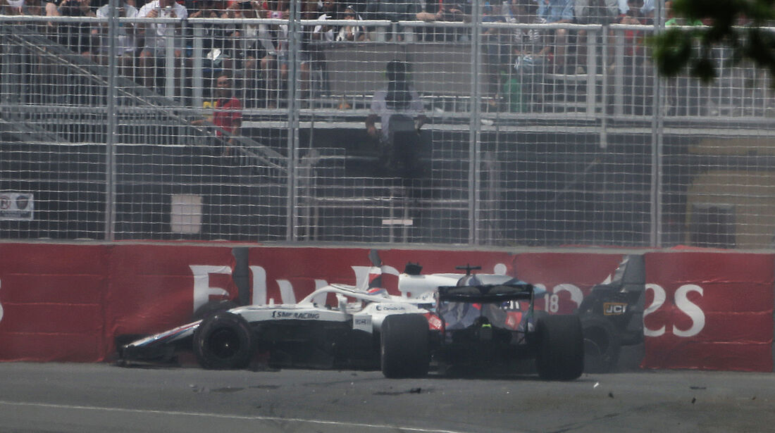 Hartley-Stroll-Crash - Formel 1 - GP Kanada 2018