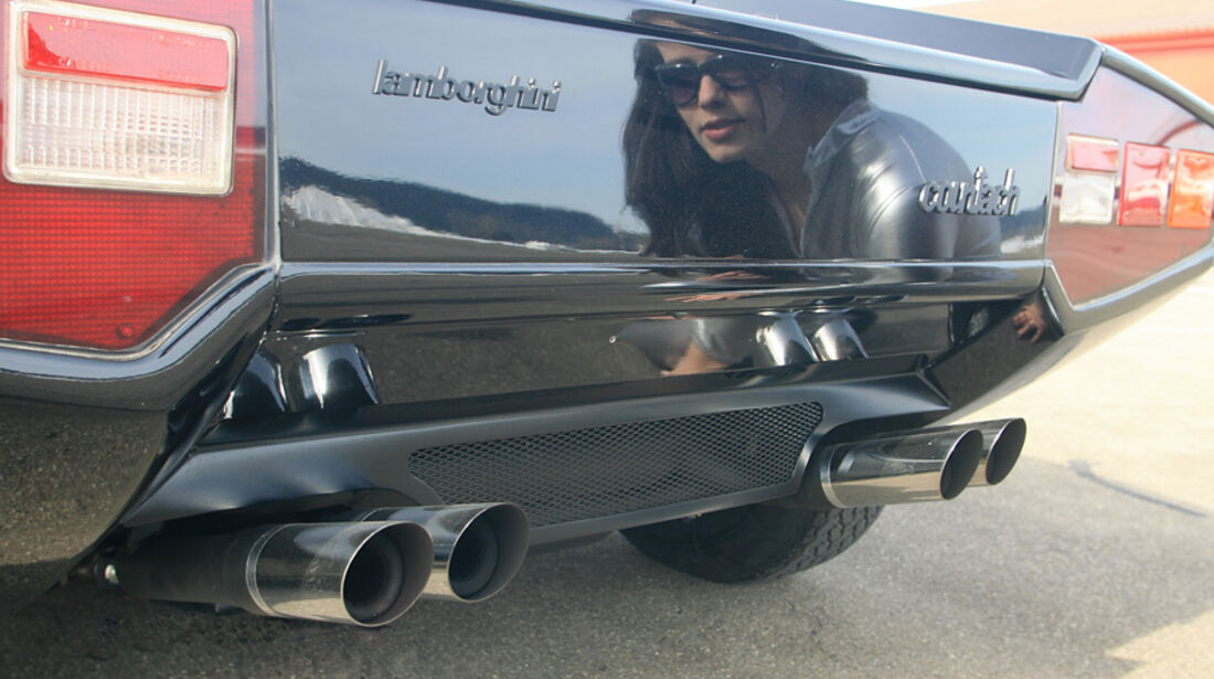 Heck und Auspuffanlage am Lamborghini Countach LP 5000 QV