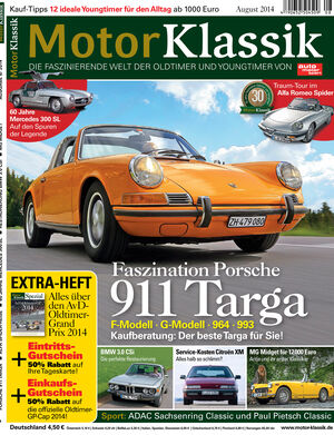 Hefttitel 08/2014 Motor Klassik
