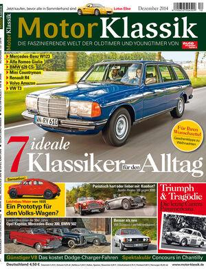 Hefttitel 12/2014 Motor Klassik