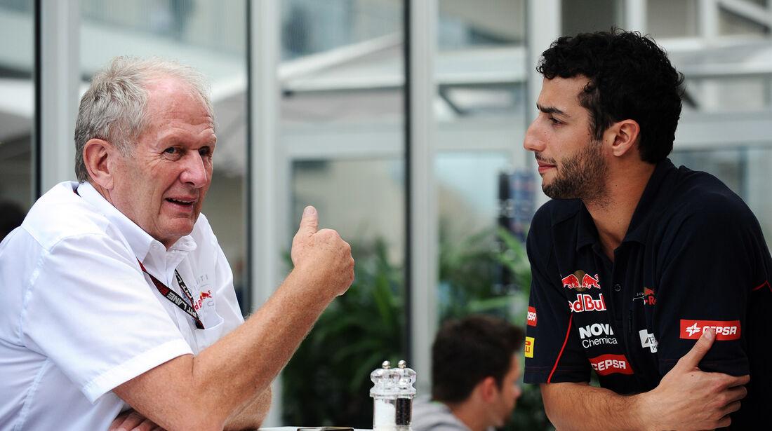 Helmut Marko & Daniel Ricciardo - Red Bull - Formel 1 - GP USA - 16. November 2013