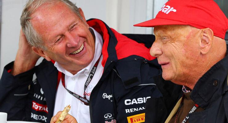 Helmut Marko & Niki Lauda 2013
