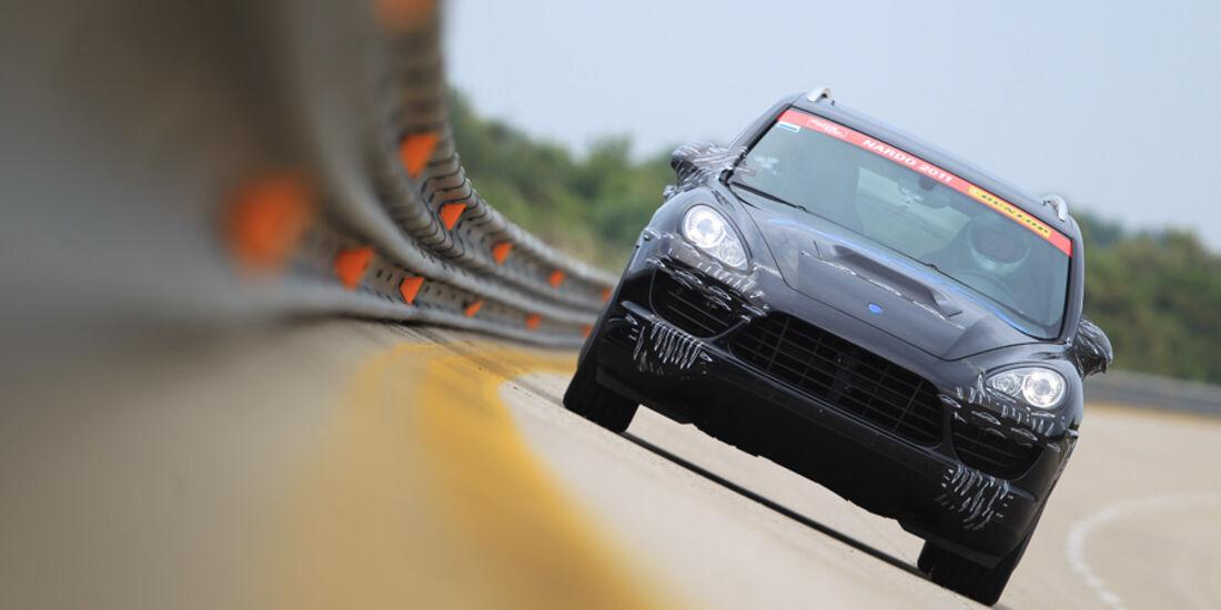 Highspeed-Test, Nardo, ams1511, 391km/h, Speedart Porsche Cayenne Turbo, Steilkurve, Frontansicht