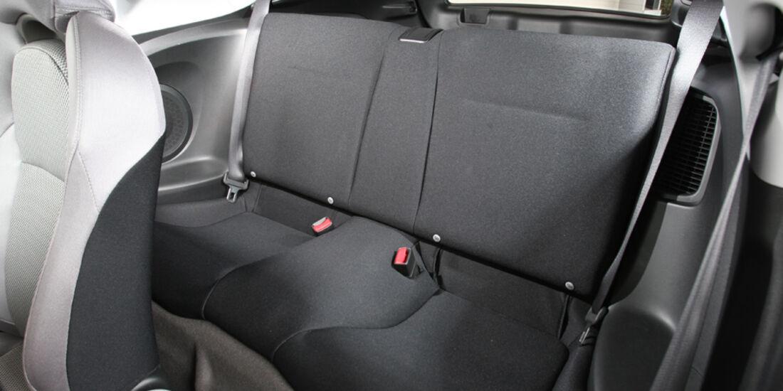 Honda CR-Z Sport, Rückbank, Rücksitz