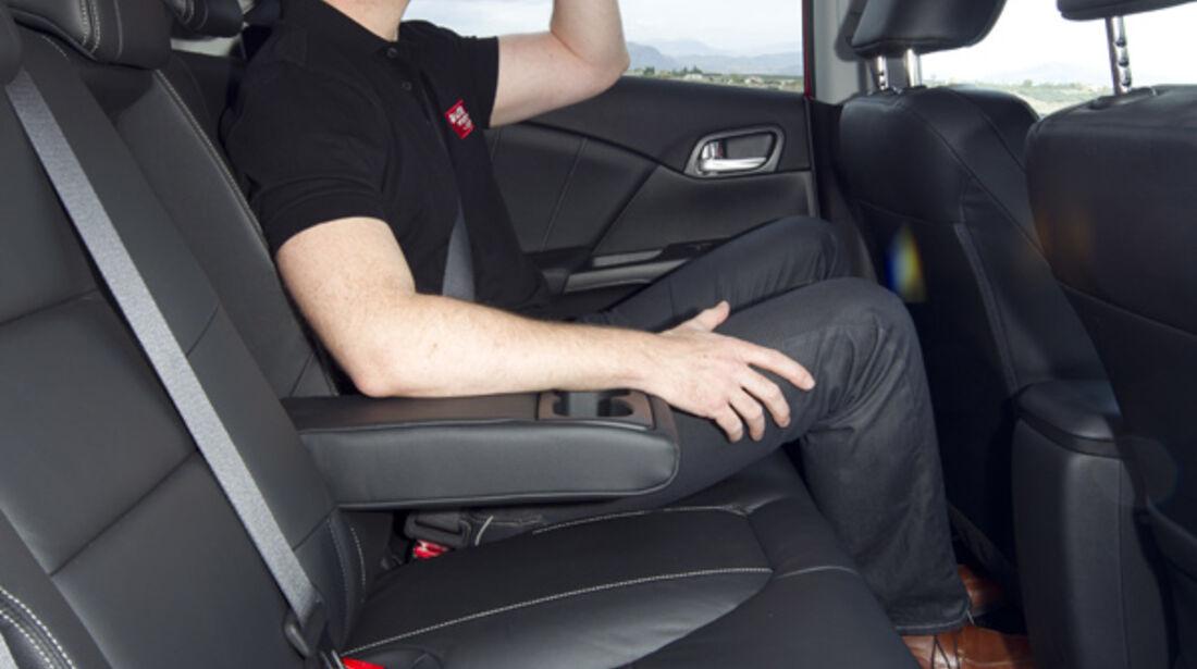 Honda Civic, Rücksitz, Kopffreiheit