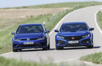 Honda Civic Type R, VW Golf R 2.0 TSI 4 Motion, Exterieur Front