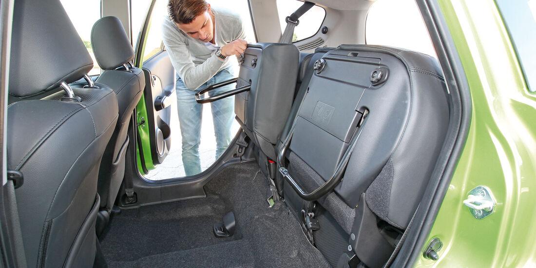 Honda Jazz 1.3 DSi i-VTEC IMA Exclusive, Rücksitz, umklappen