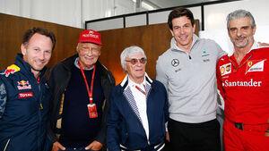 Horner, Lauda, Ecclestone, Wolff & Arrivabene - Formel 1 - 2016