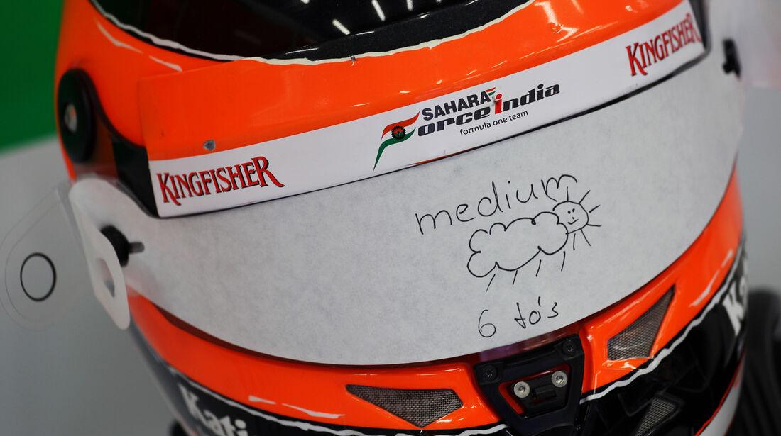 Hülkenberg-Helm - Formel 1 - GP Belgien - Spa-Francorchamps - 31. August 2012