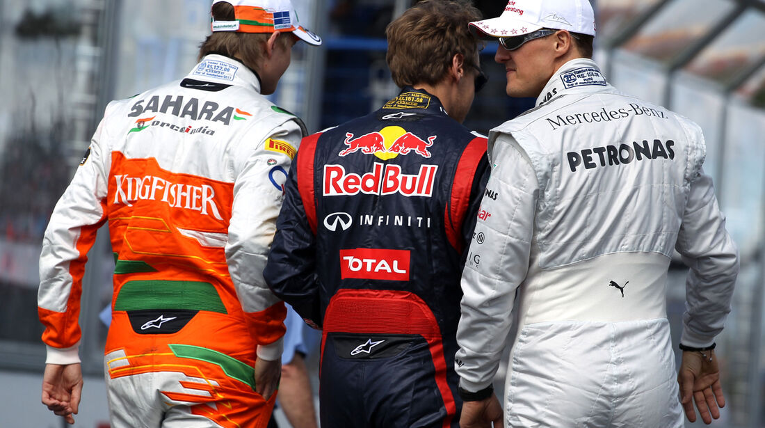 Hülkenberg, Vettel & Schumacher GP Australien 2012