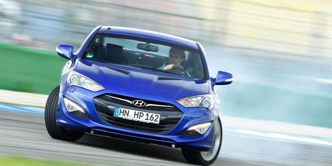 Hyundai Genesis Coupé, Frontansicht, Driften
