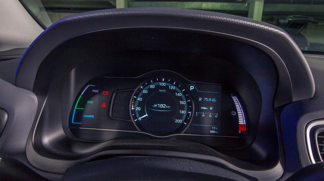 Hyundai Ioniq Elektro, Anzeigeinstrumente